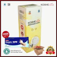 MASKER KM95 KOSMEMASK BREATHABLEMASK NANO SILVER - KOSME MASK (1Box)