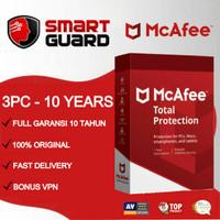 Antivirus Mcafee Total Protection 3 PC - 10 TAHUN