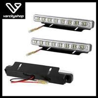 lampu led drl 8 titik universal super bright isi 2pc
