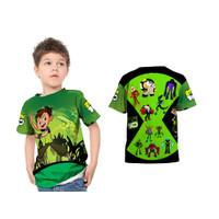 Kaos Baju Anak Kartun Karakter Ben 10 3D Fullprint Custom