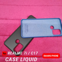 REALME 7i C17 Case LIQUID Silicon Softcase - Biru, REALME 7i C17