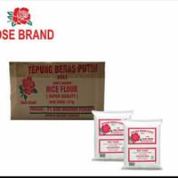 Tepung beras rose brand 1 dus isi 20 Gojek grab only