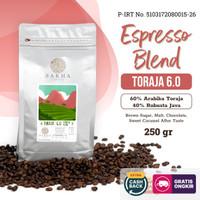 Kopi Espresso Blend Toraja 6.0 Arabica Robusta 250 Gram - SAKHA COFFEE
