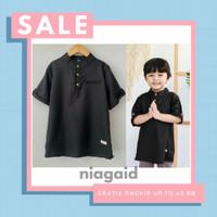 Baju Koko Toyobo Busana Muslim Anak Laki Laki 1 2 3 4 5 Tahun Hitam