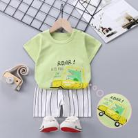 Baju setelan anak laki-laki cowok baju set bayi balita 0 1 2 3 4 tahun