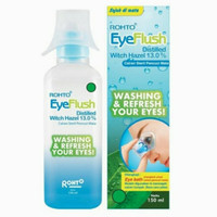 Rohto Eye Flush 150ml + Eye bath/ Eyeflush Cairan Sterill Pencuci mata