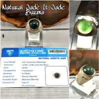 Cincin Batu Akik Natural Giok Burma Jade It Jade Type A Original