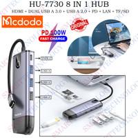MCDODO 8 IN 1 HUB TYPE C FOR MACBOOK TRIPLE USB + HDMI + LAN + TF / SD