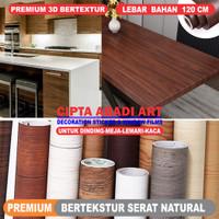 Stiker Motif Serat Kayu Premium untuk Dinding, Meja, Lemari, Lantai dl