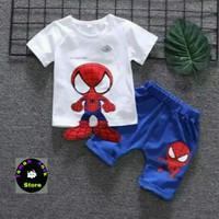 Setelan Baju Anak Spiderman Kekinian Untuk Usia 1-6 Tahun