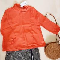 SALE Gaudi Orange Long Sleeve Top / Blus Wanita Lengan Panjang Gaudi6