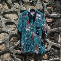 Kemeja Vintage Mambo Loud Shirt Hawaii Retro Floral Kemeja