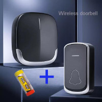 door bell wireless black waterproff anti air / bel rumah hitam