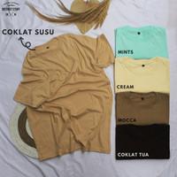 Kaos Polos Cotton Combed 30s Reactive Anti Bakteri - Coklat Tua, S