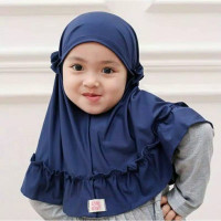 JILBAB BAYI REMPEL Anak Syaria Jersey Lembut Adem