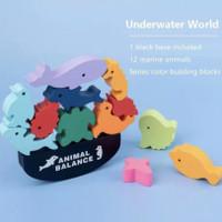 Animal Balance Mainan Edukasi Keseimbangan Anak Bayi Game toys kids - Underwater