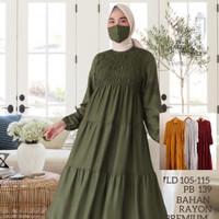 baju wanita muslim maxi dress gamis polos gamis murah jumbo abaya - Army