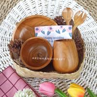 hampers lebaran kayu jati (free kartu ucapan)