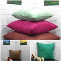 Sarung Bantal Sofa Premium Bahan Suede 40 x 40, 50 x 50 cm