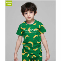 [Seoul Onni] Korea baju tidur anak bayi piyama - Banana short