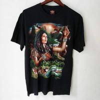 kaos baju Rock Eagle vintage indian girl original