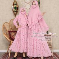 Baju Lebaran Couple Mom N Kid/Gamis Couple Kembaran/Gamis Ibu Dan Anak