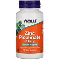 NOW Zinc Picolinate 50mg 120caps 120 caps capsules