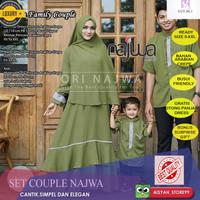 Baju Couple Lebaran Keluarga Gamis Syari Koko Casual Modern Elegant