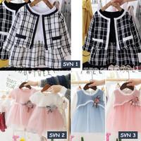 Dress Bayi Anak Perempuan Lucu Gaun Pesta Baju Pakaian Pita