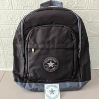 Tas Converse Logo Patch Backpack Black BPS140201 Original