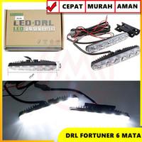 LAMPU DRL LED MODEL FORTUNER 6 TITIK ISI 2PC LAMPU LED 6