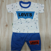 baju stelan bayi laki-laki usia 3-12 bulan