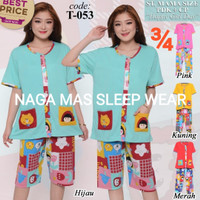 Baju Tidur FOREVER Sweet Concept ¾ Mama Size Full Kancing T 053
