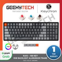 Keychron K4V2 100 Key RGB Backlight Aluminium Frame - Garansi Resmi - Brown Switch