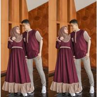 Couple Aron Couple Gamis Cod Pasangan Bisa Modern Baju Kapelan Muslim