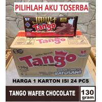 Tango Wafer CHOCOLATE 130 gr - ( HARGA 1 KARTON ISI 24 PCS )