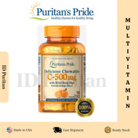 Puritan Pride Chewable Vitamin C-500 mg with Rose Hips 90 Tablets