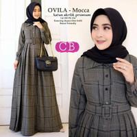 Baju Wanita Gamis Muslim Syari Maxi Dress Santai Muslimah Cewek Casual