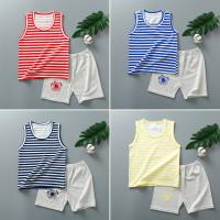 Baju Premium Set Anak Bayi Setelan Kaos Celana Oblong Singlet BR6010