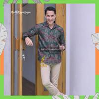 atasan baju batik pria lengan panjang motif mega naga batik prabuseno