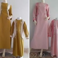 Baju Gamis Anak - Gamis Couple Dnt Ad45 Storedari