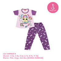Baju Setelan Anak Perempuan CP 2-10 Tahun LOL Surprise! B Shirton