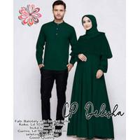Baju Couple Kapel Cople Koko Gamis Busui Busana Muslim Terbaru Murah -