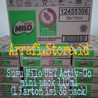 Susu Milo UHT Activ-Go mini pack 110ml (1 Karton isi 36 pack)