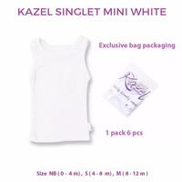 Kazel Kaos Dalam Anak bayi Baju Singlet Mini Edition Putih 0-12M 6pcs