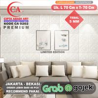 Wallpaper Stiker Dinding Foam Premium Bata Putih