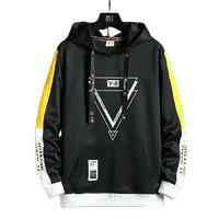 Jaket Sweater Hoodie Pria Jumper Y8 Bahan Fleece - Hitam, M