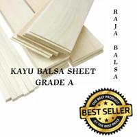 Balsa sheet 5mm x 10cm x 1m papan kualitas super putih ringan