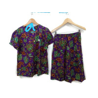 setelan kencana ungu/baju tidur kencana ungu/setelan celana rok batik