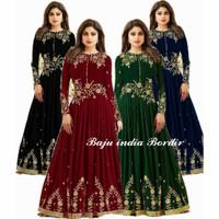 Baju india maharani bordir gamis muslim pesta lebaran murah uta ag
